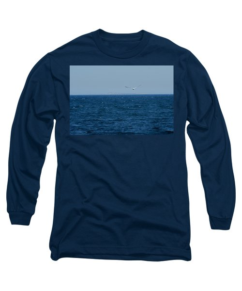 Long Sleeve T-Shirt featuring the digital art Return To The Isle Of Shoals by Barbara S Nickerson