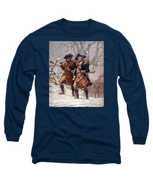Revolutionary War Soldiers Marching Long Sleeve T-Shirt