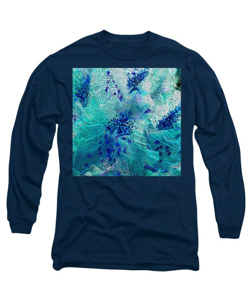 Rhododendron Turquoise Lace Long Sleeve T-Shirt