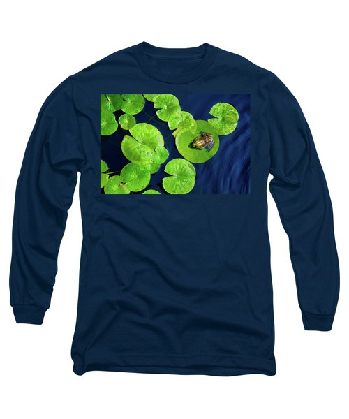 Long Sleeve T-Shirt featuring the photograph Ribbit by Greg Fortier