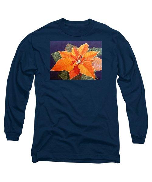 Ribbon Candy Poinsettia Long Sleeve T-Shirt