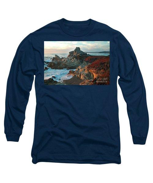 Ribera Beach Sunset Carmel California Long Sleeve T-Shirt