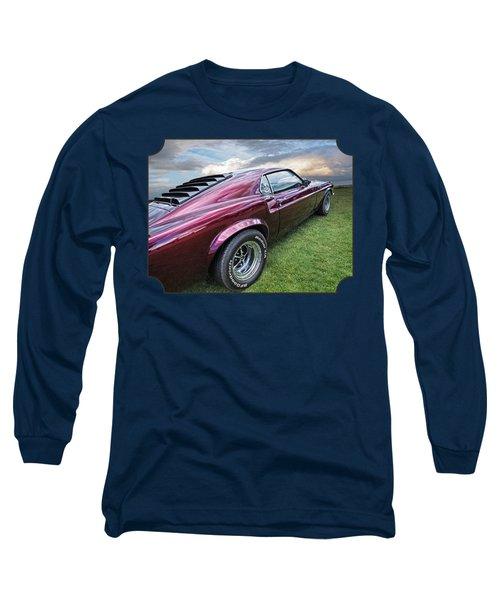 Rich Cherry - '69 Mustang Long Sleeve T-Shirt by Gill Billington