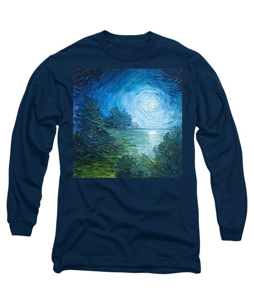 River Moon Long Sleeve T-Shirt by James Christopher Hill
