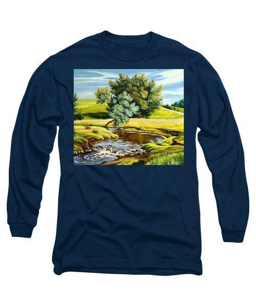 River Of Life Long Sleeve T-Shirt by Karen Showell