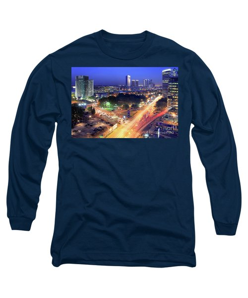Long Sleeve T-Shirt featuring the photograph Rivers Of Light by Bernardo Galmarini