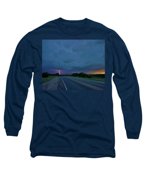 Road To The Storm Long Sleeve T-Shirt by Ed Sweeney