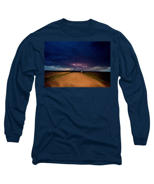 Road Under The Storm Long Sleeve T-Shirt by Ed Sweeney