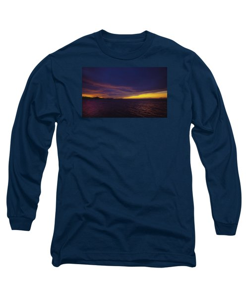Long Sleeve T-Shirt featuring the photograph Roatan Sunset by Stephen Anderson