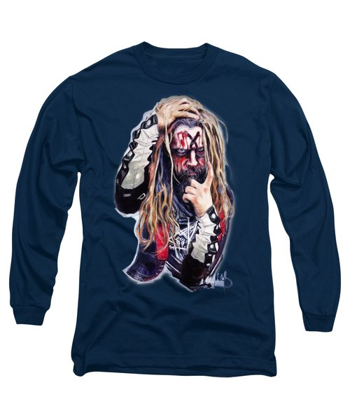 Rob Zombie Long Sleeve T-Shirt by Melanie D