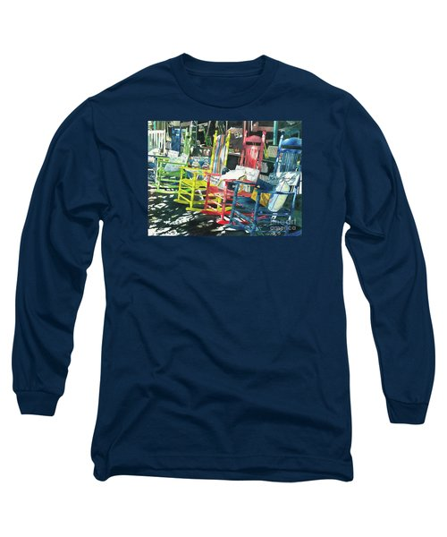 Long Sleeve T-Shirt featuring the painting Rock On by LeAnne Sowa