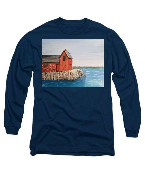 Rockport Motif In Winter Long Sleeve T-Shirt