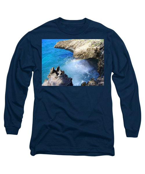 Rocks And Rainbow Long Sleeve T-Shirt by Susan Lafleur
