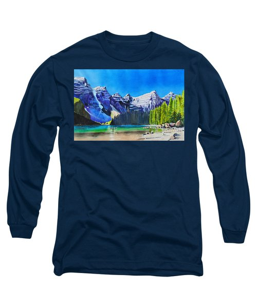 Rocky Mountain Sunrise Long Sleeve T-Shirt