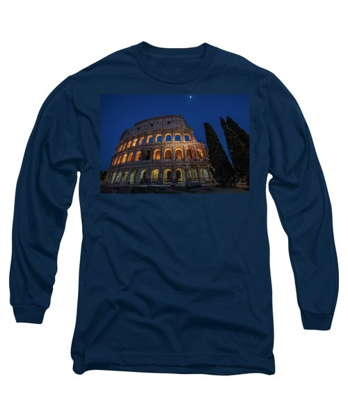 Roman Coliseum In The Evening  Long Sleeve T-Shirt