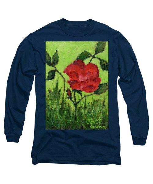 Rose Long Sleeve T-Shirt by Janet Garcia