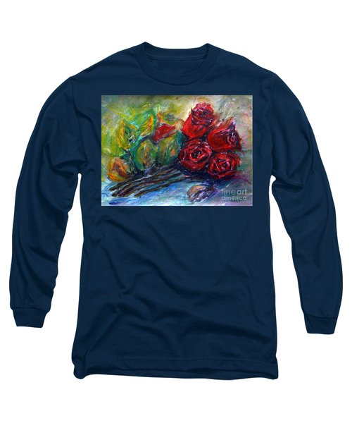 Roses Long Sleeve T-Shirt by Jasna Dragun
