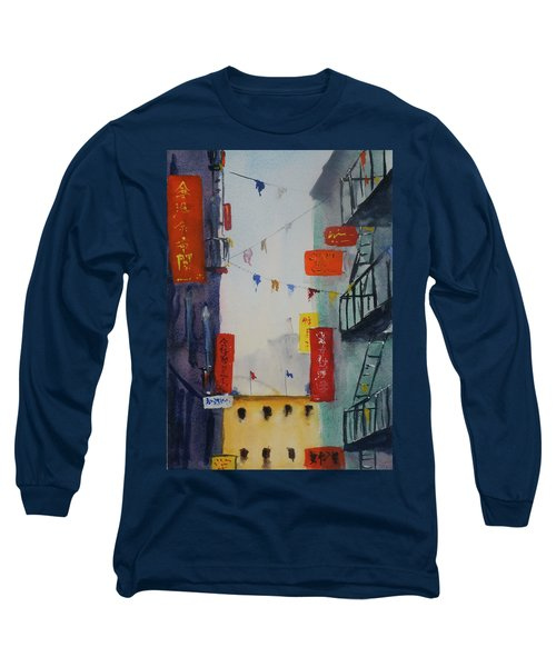 Ross Alley1 Long Sleeve T-Shirt by Tom Simmons