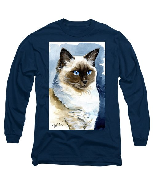 Roxy - Ragdoll Cat Portrait Long Sleeve T-Shirt