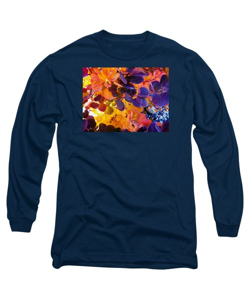 Royal Purple Smoke Bush Long Sleeve T-Shirt by Sharon Duguay