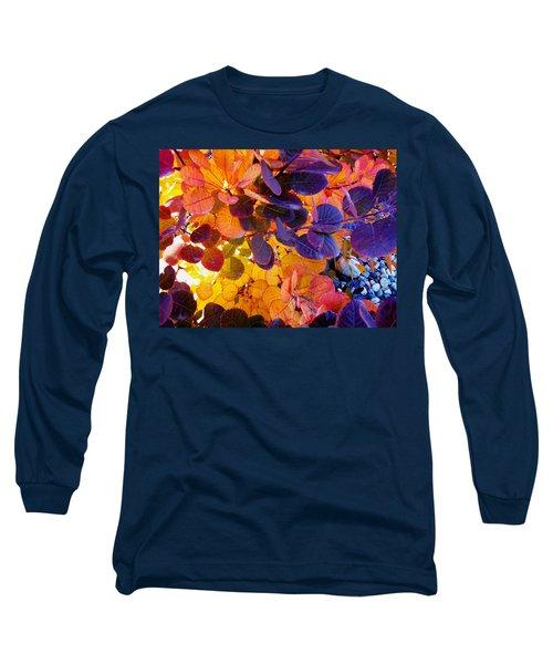 Royal Purple Smoke Bush Long Sleeve T-Shirt