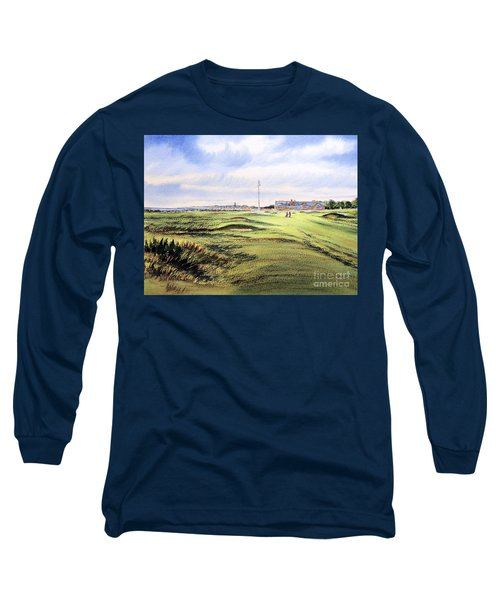 Royal Troon Golf Course Long Sleeve T-Shirt by Bill Holkham