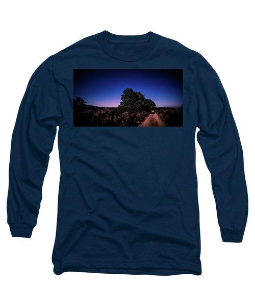Rural Starlit Road Long Sleeve T-Shirt