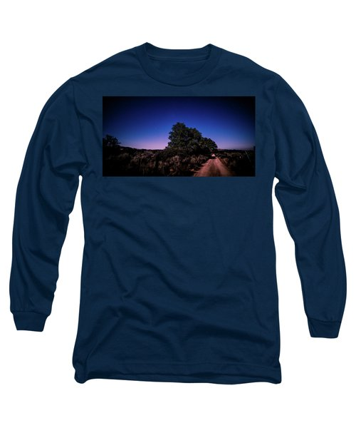 Rural Starlit Road Long Sleeve T-Shirt