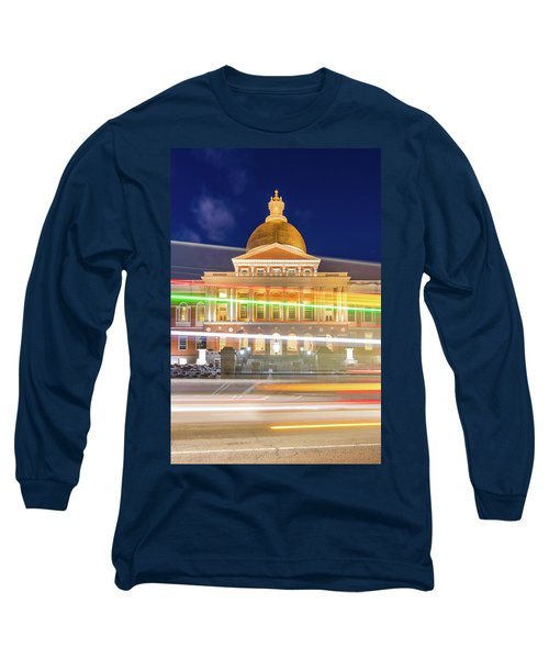 Rush Hour In Front Of The Massachusetts Statehouse Long Sleeve T-Shirt