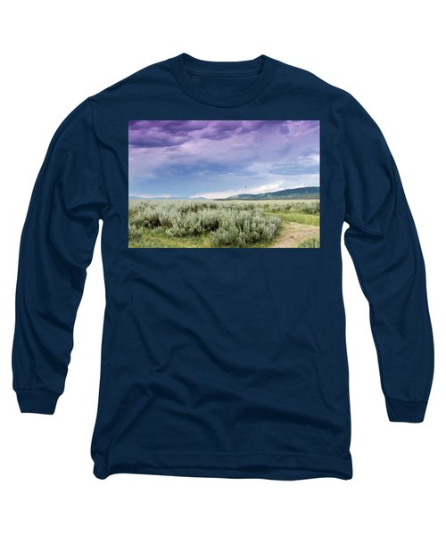 Long Sleeve T-Shirt featuring the photograph Sage Fields  by Dawn Romine