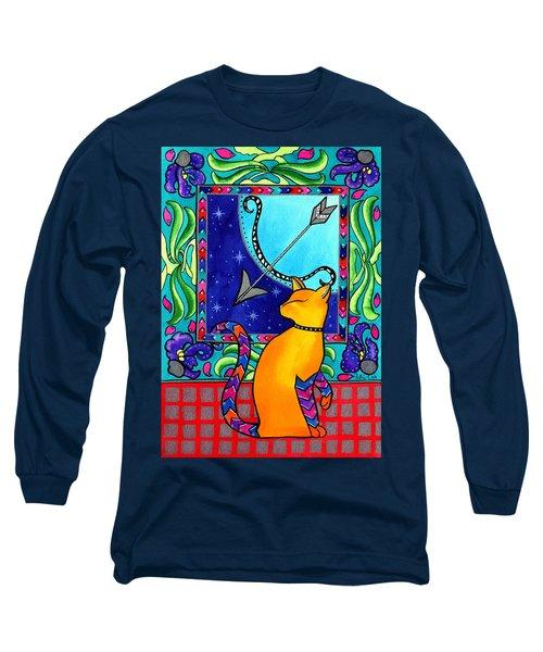Sagittarius Cat Zodiac Long Sleeve T-Shirt