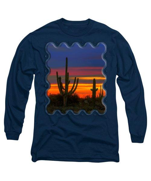 Saguaro Sunset V30 Long Sleeve T-Shirt by Mark Myhaver