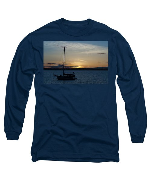 Sail Boat At Sunset Long Sleeve T-Shirt