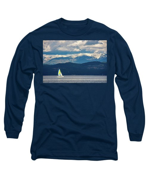 Sailing Flathead Lake Long Sleeve T-Shirt