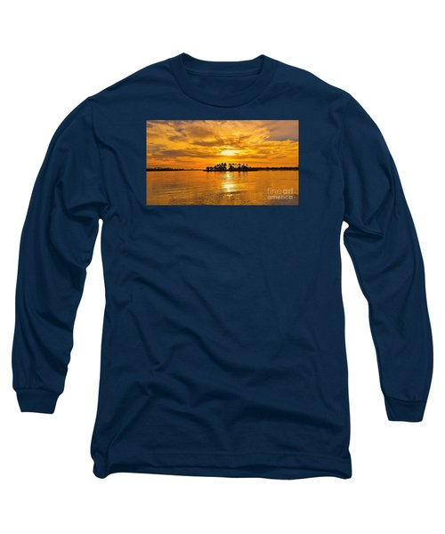 San Diego Golden Sky By Jasna Gopic Long Sleeve T-Shirt by Jasna Gopic