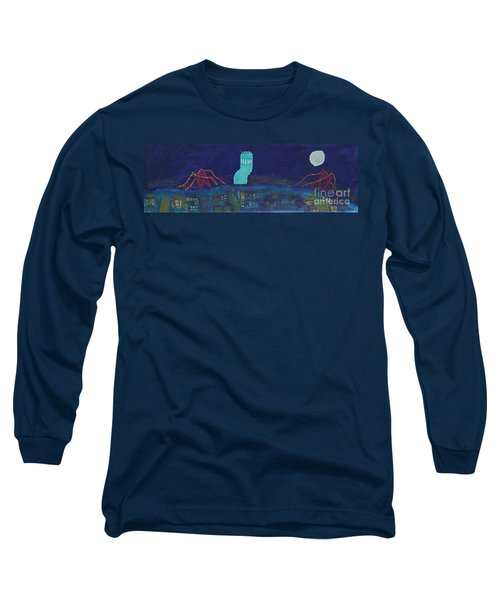 San Francisco Coit Tower Abstract Long Sleeve T-Shirt