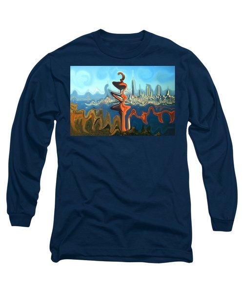 San Francisco Earthquake - Modern Artwork Long Sleeve T-Shirt
