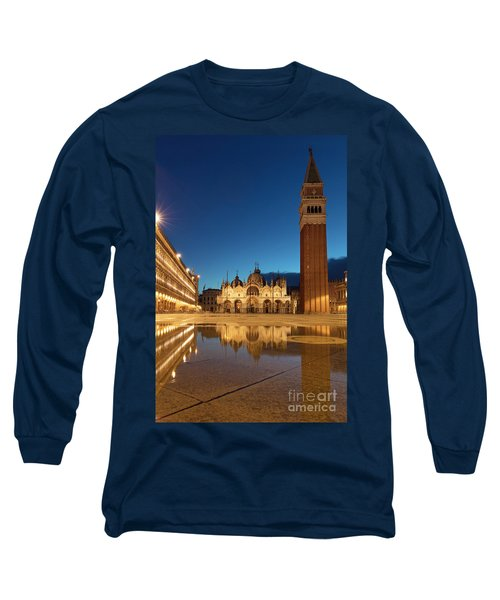 Long Sleeve T-Shirt featuring the photograph San Marco Twilight by Brian Jannsen