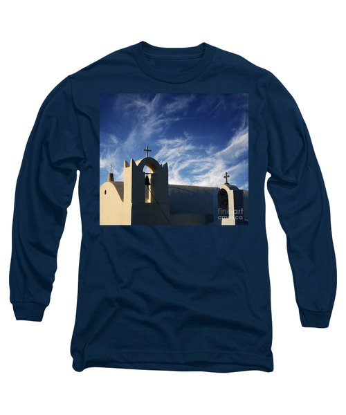 Long Sleeve T-Shirt featuring the photograph Santorini Greece Architectual Line 3 by Bob Christopher