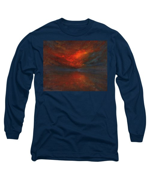 Sapphire Sunset Long Sleeve T-Shirt by Jane See