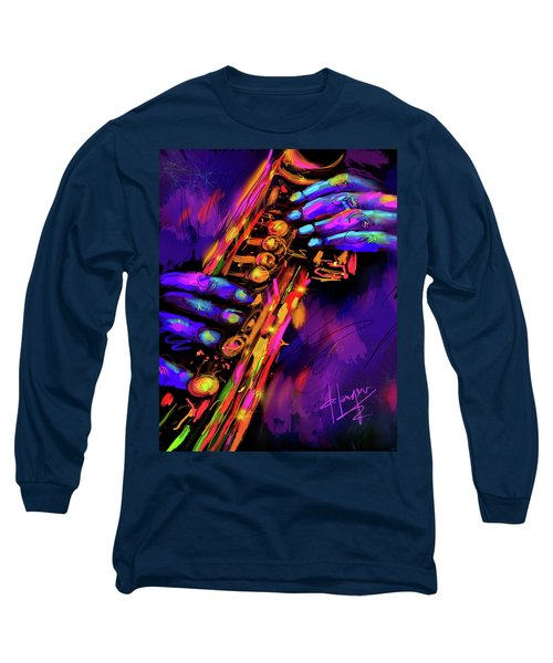 Saxy Hands Long Sleeve T-Shirt