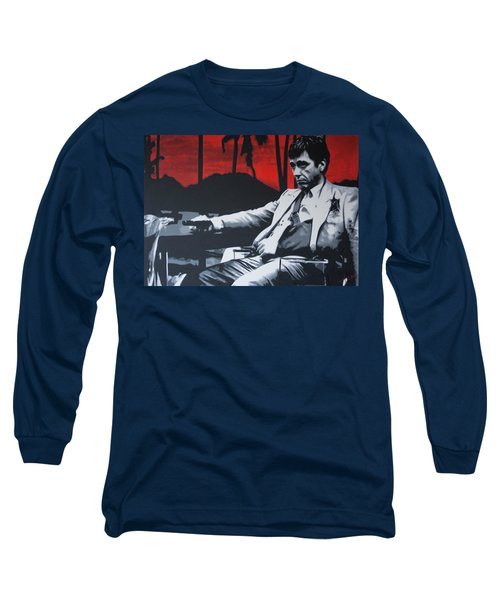 Scarface - Sunset 2013 Long Sleeve T-Shirt by Luis Ludzska