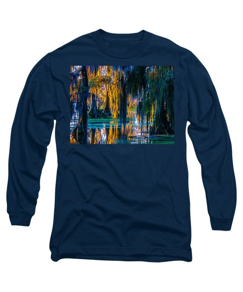 Scary Swamp In The Daytime Long Sleeve T-Shirt by Kimo Fernandez