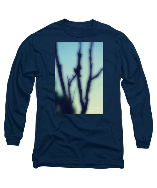 Long Sleeve T-Shirt featuring the photograph Scrub Silhouette by Cassandra Buckley