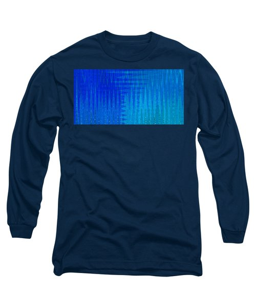 Sea Song Blue On Blue Long Sleeve T-Shirt by Stephanie Grant