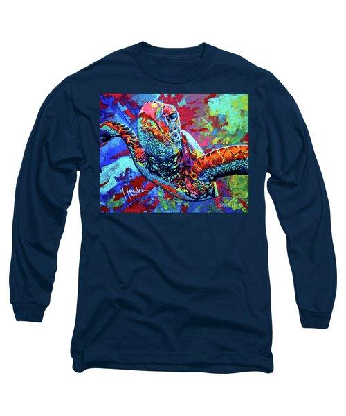 Sea Turtle Long Sleeve T-Shirt by Maria Arango