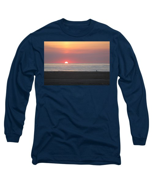 Seagull Watching Sunrise Long Sleeve T-Shirt