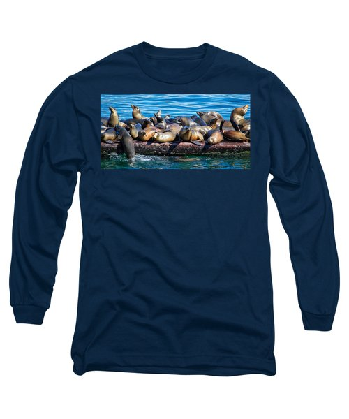 Sealions On A Floating Dock Another View Long Sleeve T-Shirt
