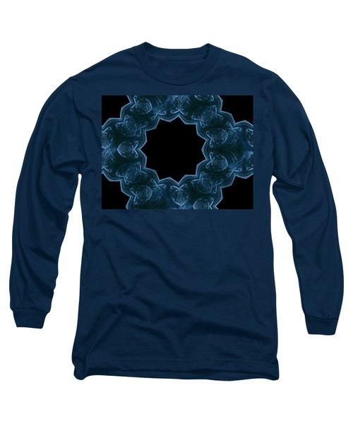 Seamless Kaleidoscope Blue Long Sleeve T-Shirt
