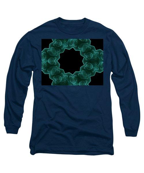 Seamless Kaleidoscope Green Long Sleeve T-Shirt